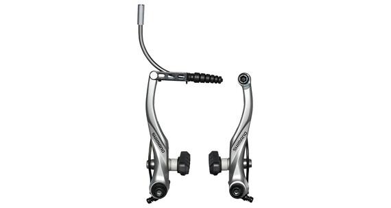 Shimano Alivio BR-T4000 V-Brakes achterwiel zilver